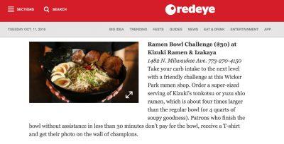 Kizuki Wicker Park ramen challenge