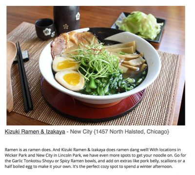 Kizuki Ramen Wicker Park Chicago